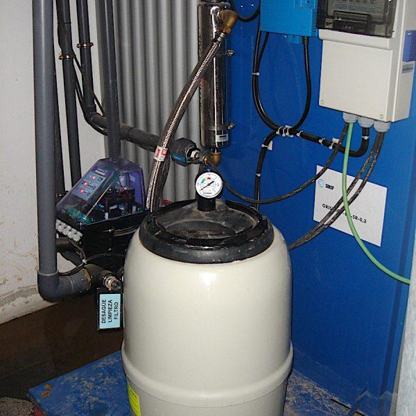 Equipo reutilización Aguas Grises para 50 inodoros